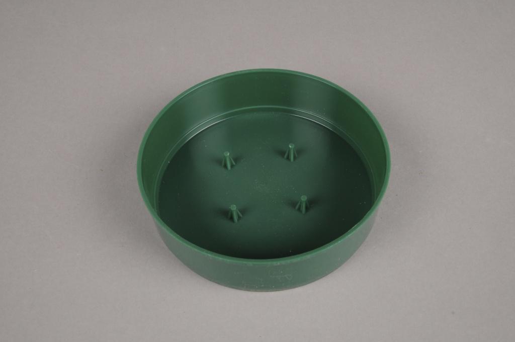 A053T7 Set de 12 coupe en plastique verte D13cm