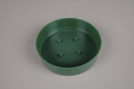 A053T7 Set of 12 green plastic saucer D13cm