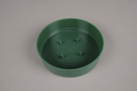 A053T7 Set of 12 green plastic saucer D13cm