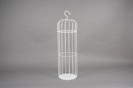 A054AY White metal cage D25cm H90cm