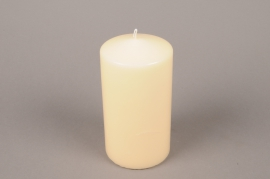 A054E2 Box of 6 candles ivory cylinder D8cm H15cm