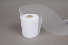 A054GM Tulle ribbon white 10cm x 40m