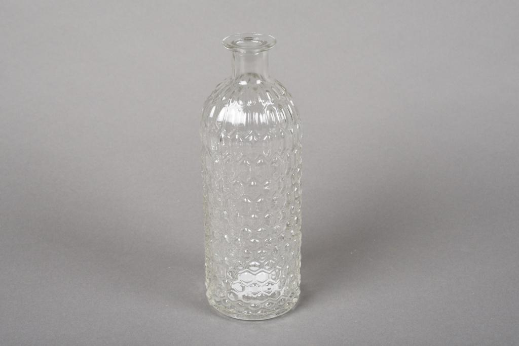 A054R4 Vase en verre bouteille D7cm H20cm