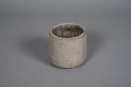 A054U0 Cache-pot en béton gris nacré D11cm H11cm