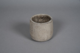 A054U0 Pearly grey concrete planter D11cm H11cm