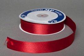 A054UN Ruban satin rouge 25mm x 50m