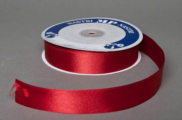 A054UN Satin ribbon red 25mm x 50m