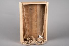 A055AY Caisse en bois 29.5cm x 45cm H8cm