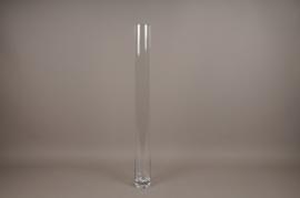 A055PQ Vase en verre cylindre D10cm H100cm
