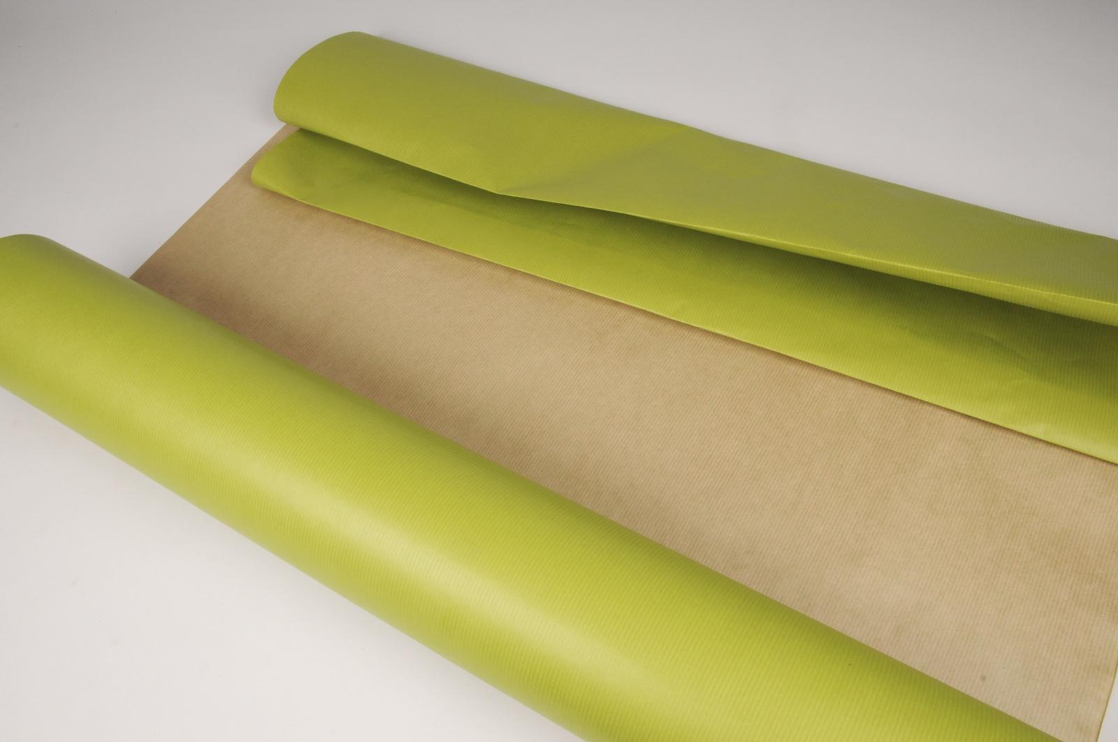 A055QX Rouleau de papier kraft vert pomme/marron 80cmx120m