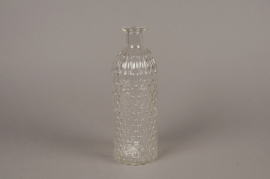 A055R4 Glass bottle vase D8cm H25cm