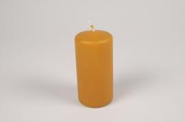A055RP Boîte de 12 bougies cylindre miel D6cm H12cm