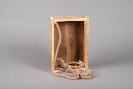 A056AY Caisse en bois 20.5cm x 30cm H7cm