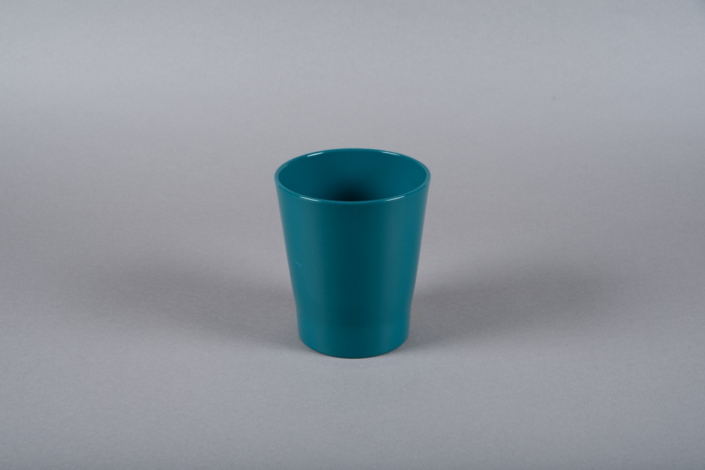 A056DO Blue ceramic orchid planter D14cm H15cm
