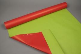 A056QX Rouleau de papier kraft rouge / vert 80cm x 50m