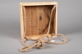 A057AY Caisse en bois 35cm x 35cm H8cm