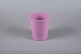 A057DO Purple ceramic orchid planter D14cm H15cm