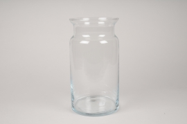 A057IH Glass vase D15cm H29.5cm