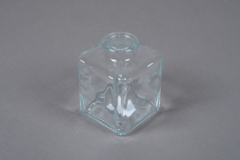 A057R4 Glass cube bottle vase 7x7cm H10cm