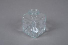 A057R4 Soliflore bouteille carré en verre 7x7cm H10cm