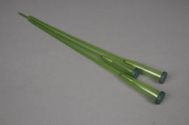 A057T7 Box of 100 green plastic tubes on pic