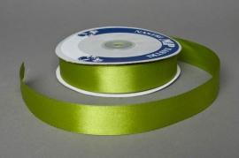 A057UN Satin ribbon green 25mm x 50m