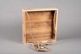 A058AY Caisse en bois 28cm x 28cm H7cm