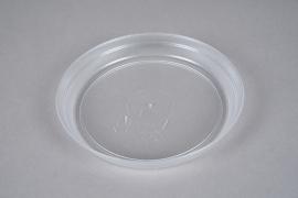 A058K7 Clear plastic saucer D17cm