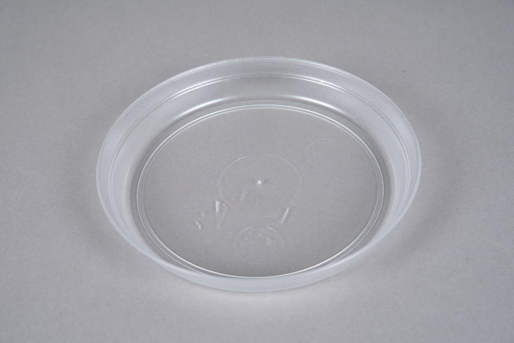 A058K7 Soucoupe en plastique transparente D17cm