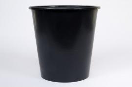 A058MO Seau conique en plastique noir 13L