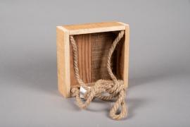 A059AY Wooden box  20cm x 20cm H7cm