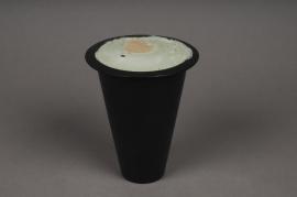 A059H7 Vase conique avec mousse florale séche