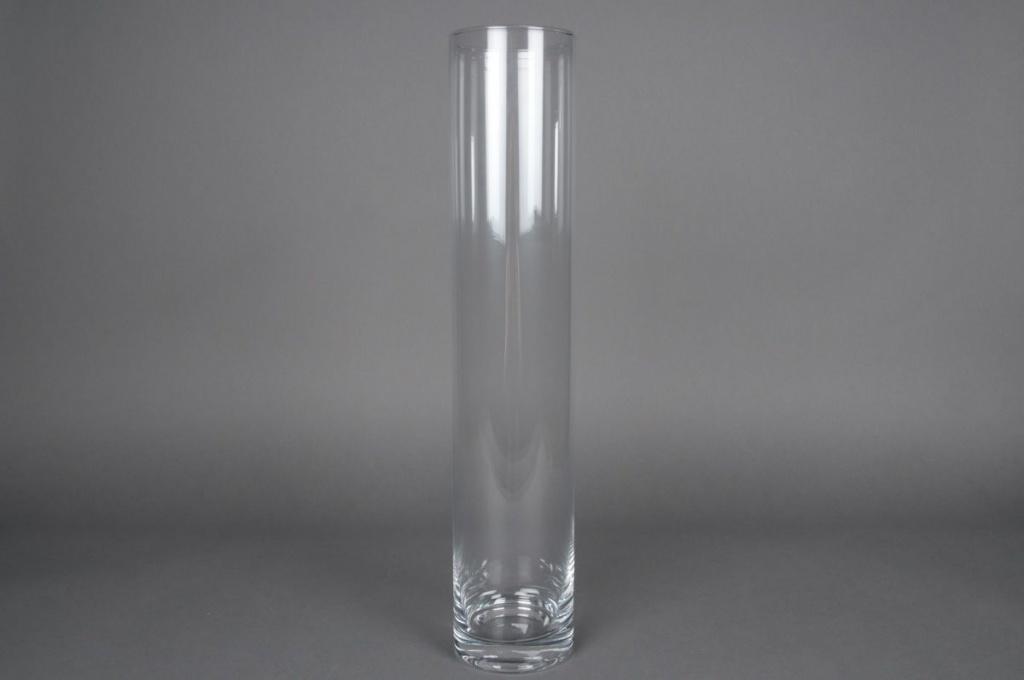 A059I0 Vase en verre cylindre D25cm H140cm