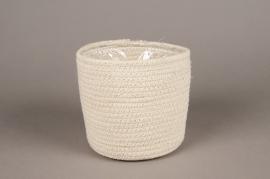 A059M5 Cache-pot en coton D17cm H17cm
