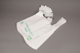 A059OR Pack of 50 white plastic bags L26cm H29cm