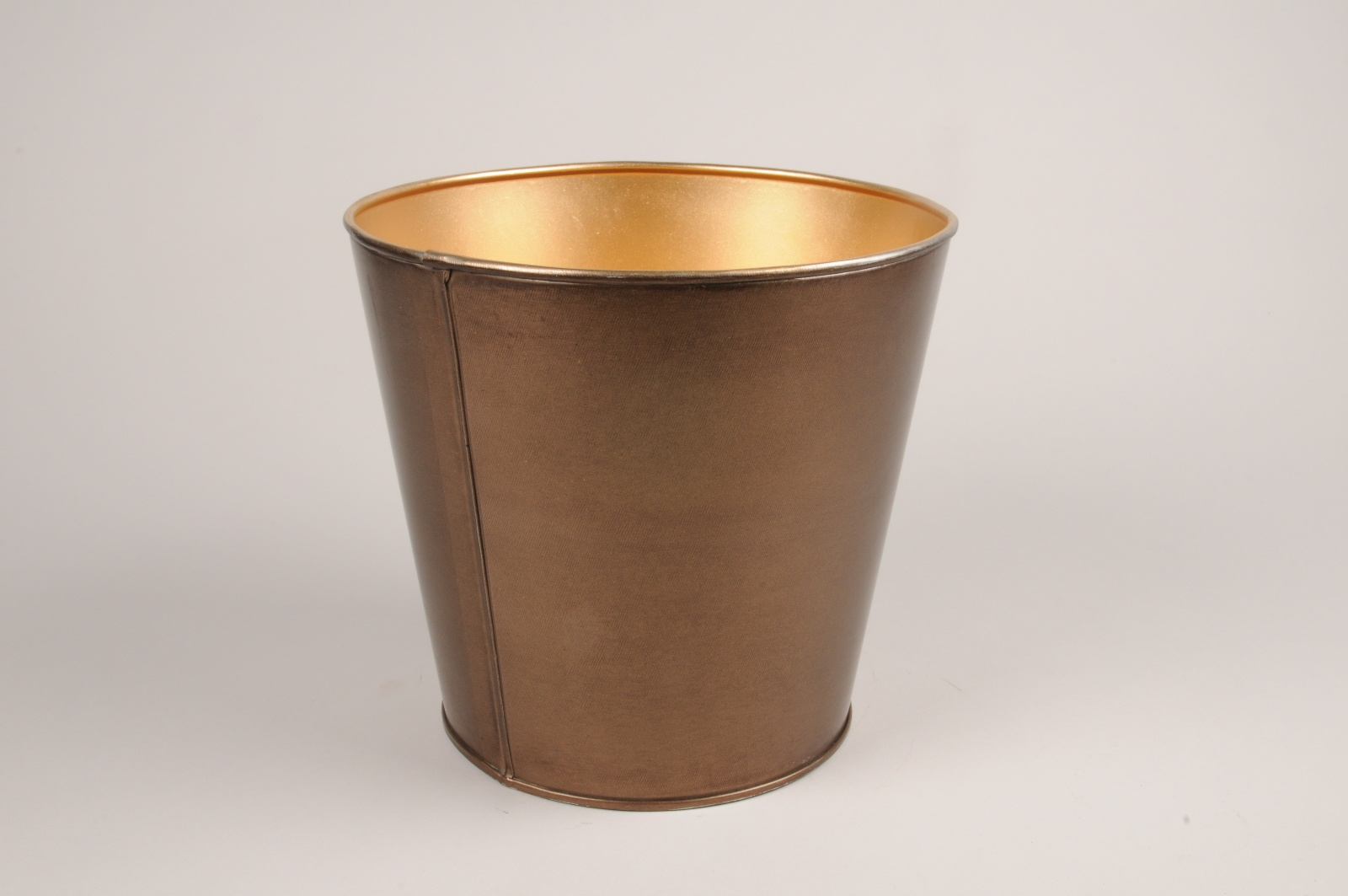 A061JY Cache-pot en métal cuivre D15.5cm H16cm
