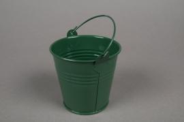 Seau en zinc vert sapin D8 H7cm