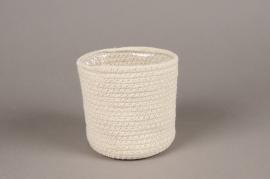 A061M5 Cache-pot en coton D13cm H12cm