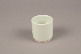 A062T3 Green ceramic planter pot  D7cm H7cm