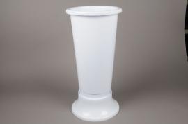 A062T7 White plastic vase D22cm H52cm