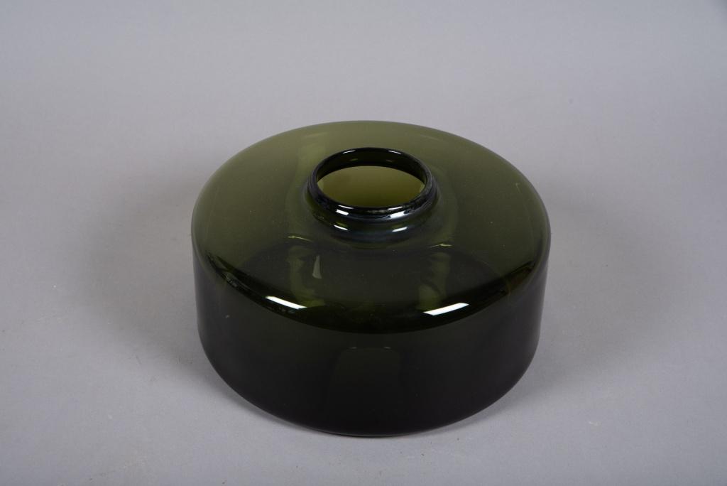A062W3 Vase en verre vert D30cm H13cm