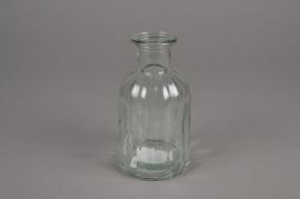 A063R4 Glass bottle vase D7.5cm H13.5cm