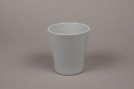 A064PP Cache-pot en céramique gris D13cm H14cm