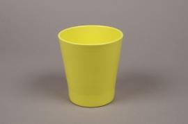 A065PP Cache-pot en céramique vert D13cm H14cm