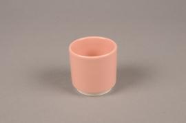 A065T3 Cache-pot en céramique rose D7cm H7cm