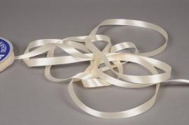 A065UN Satin ribbon cream 12mm x 100m