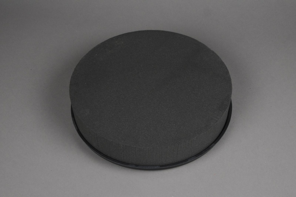 A066QV Floral foam round black D28cm