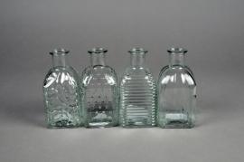 A066R4 Assorted glass bottle vase D6.5cm H13cm