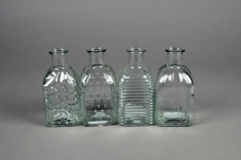 A066R4 Vase en verre bouteille assortis D6.5cm H13cm
