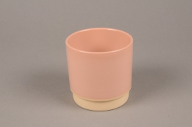 A066T3 Pink ceramic planter pot  D11.5cm H11cm